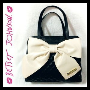 Betsey Johnson Large Quilted Bow Tote Bag